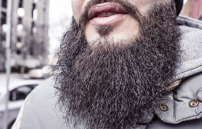 A long, dry beard